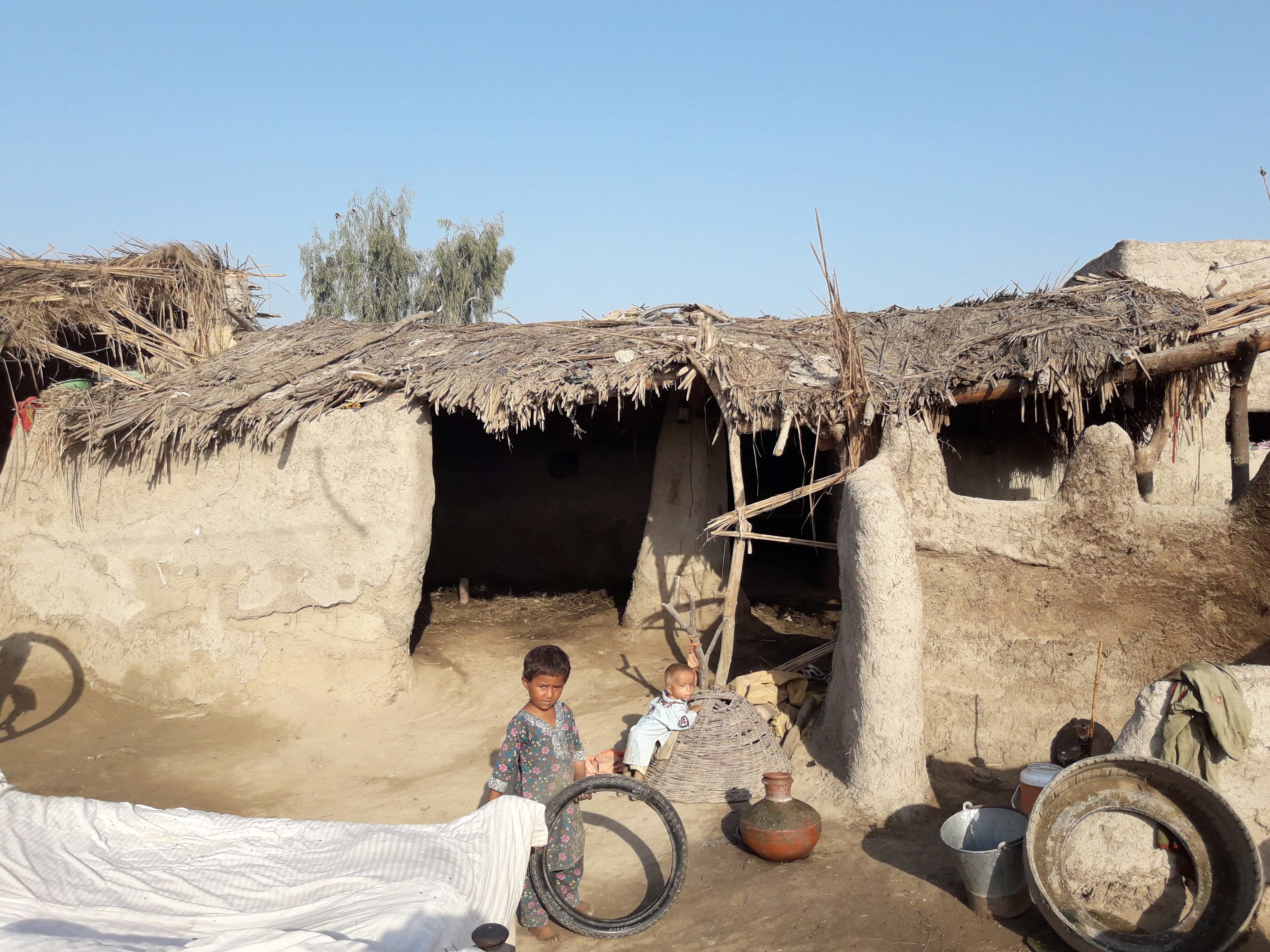 Children play in Sawali Bhand Village