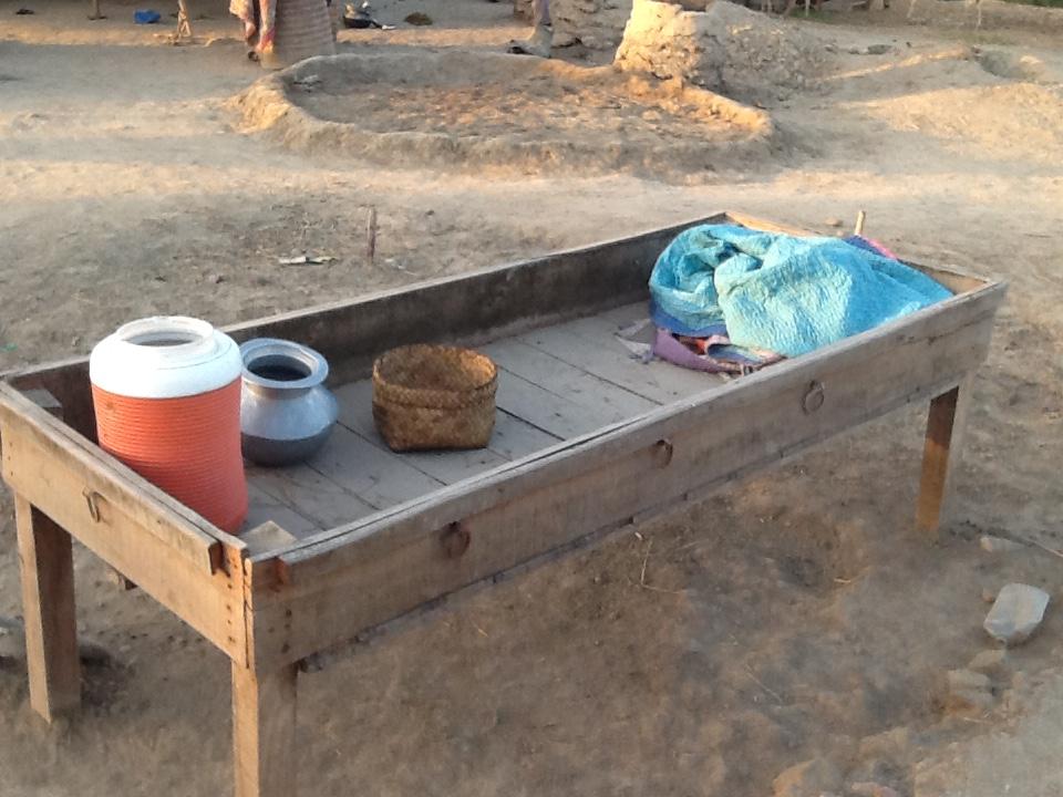The villager's belongings